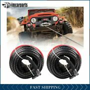 2x Winch Synthetic Rope 20500lbs Line Recovery Cable Off-road 3/8 X 95ft