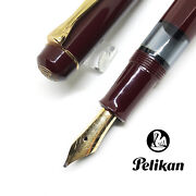 Discontinued Pelikan West Germany M250 Carve Logo Red 12c Nib Fountain Pen