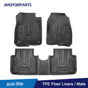 Kit Front And Rear Tpe Rubber Floor Mats Liners Foot Pads For 2017-21 Honda Cr-v