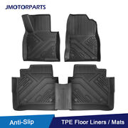 Kit Tpe Black Rubber Floor Mats Liners For 2017-21 Mazda Cx-5 All Weather