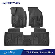 Kit Tpe Rubber Foot Pads Floor Mats Liner For 2018-21 Chevy Equinox All Weather