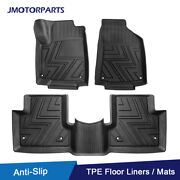 Kit Tpe Black Rubber Floor Mats Liners For Jeep Renegade 2015-2020 All Weather