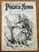 Rare Illustrated Police News Great Chicago Fire Pictures 1871 Newspaper Original