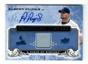 2008 Ud A Piece Of History Franchise Blue Auto Jersey 1/5 Albert Pujols Fh-48