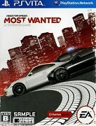 Need For Speed Most Wanted Playstation Vita Japan Version