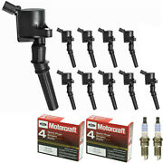 Motorcraft Platinum Engine Spark Plug And High Performance Ignition Coil For Ford