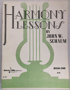 Harmony Lessons Book One By John Schaum 1949 New-old Stock El 373 Belwin Mills