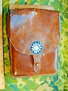 1940s China War Chinese Nationalist Officers Large Leather Map Case 民国国军将领皮质地图袋