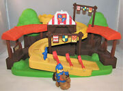 2012 Fisher Price Little People Klip Klop Mike The Knight Galahad Arena Playset