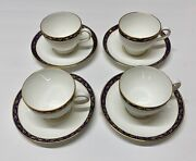 4 Vintage Wedgewood Cup And Saucer Sets Marina Bone China England R4425 New