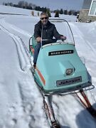 Vintage 1970 Johnson Skee-horse Snowmobile Wide Track Sled Evinrude Omc 437 26hp