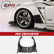 For Nissan Gtr R35 2013 Ver Vrs Style Frp Unpainted Front Fender With Louver Fin