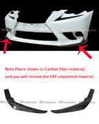 2pcs Frp Jdm F Sports Bumper Only Front Lip Wing For Lexus Is250 Is350 14-16