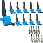 Spark Plug And High Performance Energy Ignition Coil Set For Ford E-150 Xl 4.6l V8