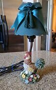 Collections Etc Resin Rooster Lamp No Shade Used-as Is