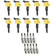 Spark Plug And High Performance Racing Ignition Coil Set For Ford E-150 Xl 4.6l V8