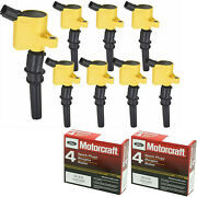 Motorcraft Platinum Engine Spark Plug And Energy Ignition Coil For Ford 4.6l V8