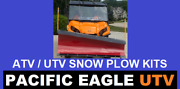 72 Pro Series Utv Snow Plow Including Push Tubes And A 4500lb Winch