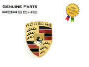 Porsche Cayenne 2008-2010 Hood Emblem With Mounting Base Plate Genuine