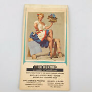 1965-1966 Vintage Pinup Girl Brown And Bigelow Ad Note Pad Birdand039s Eye View