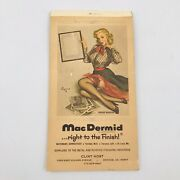1967-1968 Vintage Pinup Girl Brown And Bigelow Ad Note Pad Proof Wanted