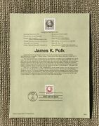 """"""" James K. Polk """" First Day Of Issue Postal Stamp - Mint - Ship Free"""