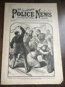 Illustrated Police News Frank James Acquitted Photo 1883 Newspaper Jesse