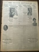 Geronimo Is Dead In Rare Old West 1909 Newspaper On Front Page Apache Indian
