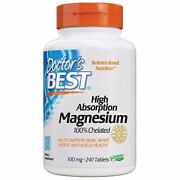High Absorption Magnesium Glycinate Lysinate 100 Chelated 100 Mg 240 Tablets