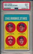 1963 Topps Pete Rose Rookie 537 Reds Mlb All Time Hit King Psa 3.5
