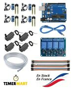 Kit Arduino Watering Uno R3 +4 Detectors + Relay 4ch +4 Pumps + 6 7/12ft Hose