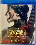 The Hunger Games Complete 4 Film Collection Blu-ray+digital, 2016 New