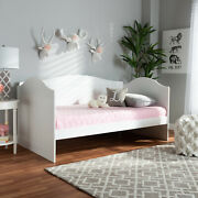 Baxton Studio Neves Cottage Farmhouse White Finished Wood Twin Size Daybed
