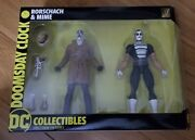 Dc Collectibles - Watchmen Doomsday Clock Rorschach And Mime Action Figure 2-pk