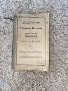 Authentic Original Ford Motor Company Telephone Directory Henry Ford 1918