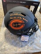 Dick Butkus Signed And Inscribed Bears Eclipse Full Size Helmet Beckett Rare