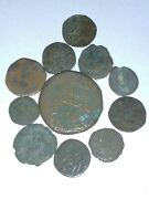 Authentic Ancient Or Medieval Islamic Copper Coin Artifact Middle Eastern Lot