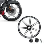 23and039and039 X3.5and039and039 Front Wheel Rim Single Disc Wheel Hub For Harley Touring 2008-2021