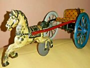 Vintage Clown And Horse Gama D.r.g.m Mechanical Wind Up Toy Made In Germany