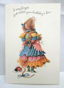 6 Vera The Mouse Hallmark Belated Birthday Greeting Cards And Env 1997 Lot 107