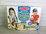 Melissa And Doug Train And Jump Horse Show Play Set 25 Pieces With Stuffed Plush