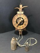 Antique Weight Driven Clock Anno 1640 Wooden Movement