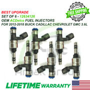 Best Upgrade 6x Oem Acdelco Fuel Injectors 2012-18 Buick Cadillac Chevy Gmc 3.6l