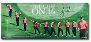 Tiger Woods Signed Autographed 36x15 Photo The Chip On 16 2012 Memorial /116 Uda