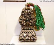 Nepal Copper Bronze Royal Palace Feng Shui Symbol Of Power Seal Stamp Signet