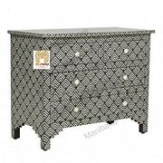 Bone Inlay Chest Of Drawers Four Drawer Inlay Dresser With Insurance Home Decor6
