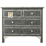 Bone Inlay Chest Of Drawers Four Drawer Inlay Dresser With Insurance Home Decor