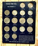 Food For All Fao Money 2 - 16 Coins Set - 3 Silver