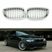 Car Front Fence Grill Grille Chrome Mesh For Bmw E46 2 Doors 03-05 3 Series Sa