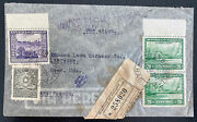 1947 Paraguay Registered Airmail Cover To Lawrence Ma Usa